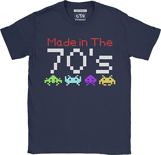 Men's Made in the 70s Space Invaders T-shirt - S to XXL