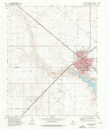 Amazon.com: Texas Maps   1973 Dalhart West, TX USGS Historical ... on