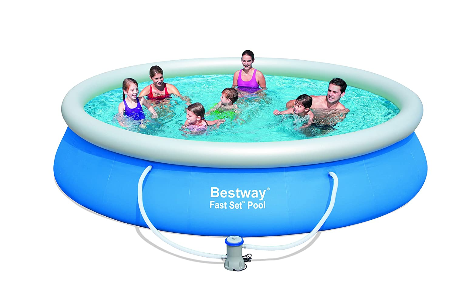 Bestway Fast Set Piscina, 427x91 cm: Amazon.es: Jardín