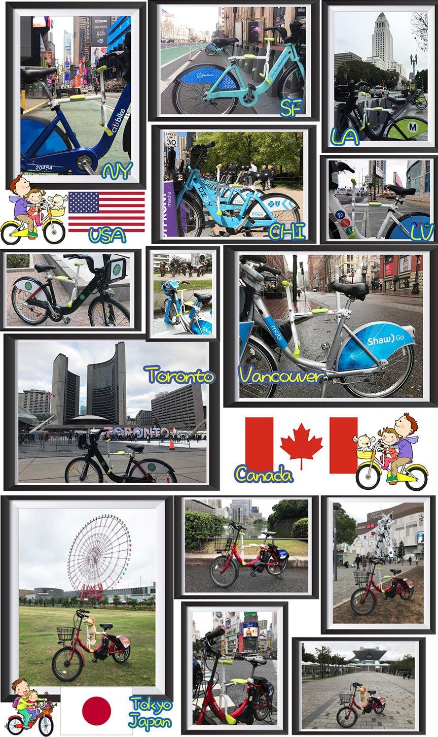 PaPaSeat Portable Light Weight Fast Install Child Bike Seat, Works with All City Bikes (USA, Canada, Paris, Milan, Warsaw, Tokyo, Taipei…) by PaPaSeat (Image #4)