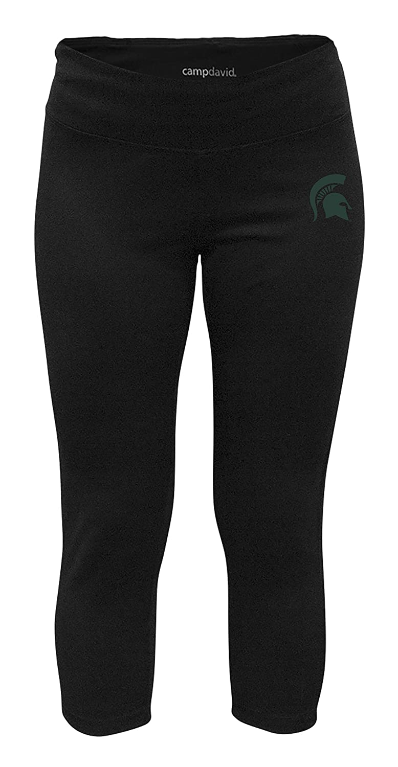 Small Black Michigan State Spartans NCAA Crosstown Womens Cropped Active Lifestyle Pant