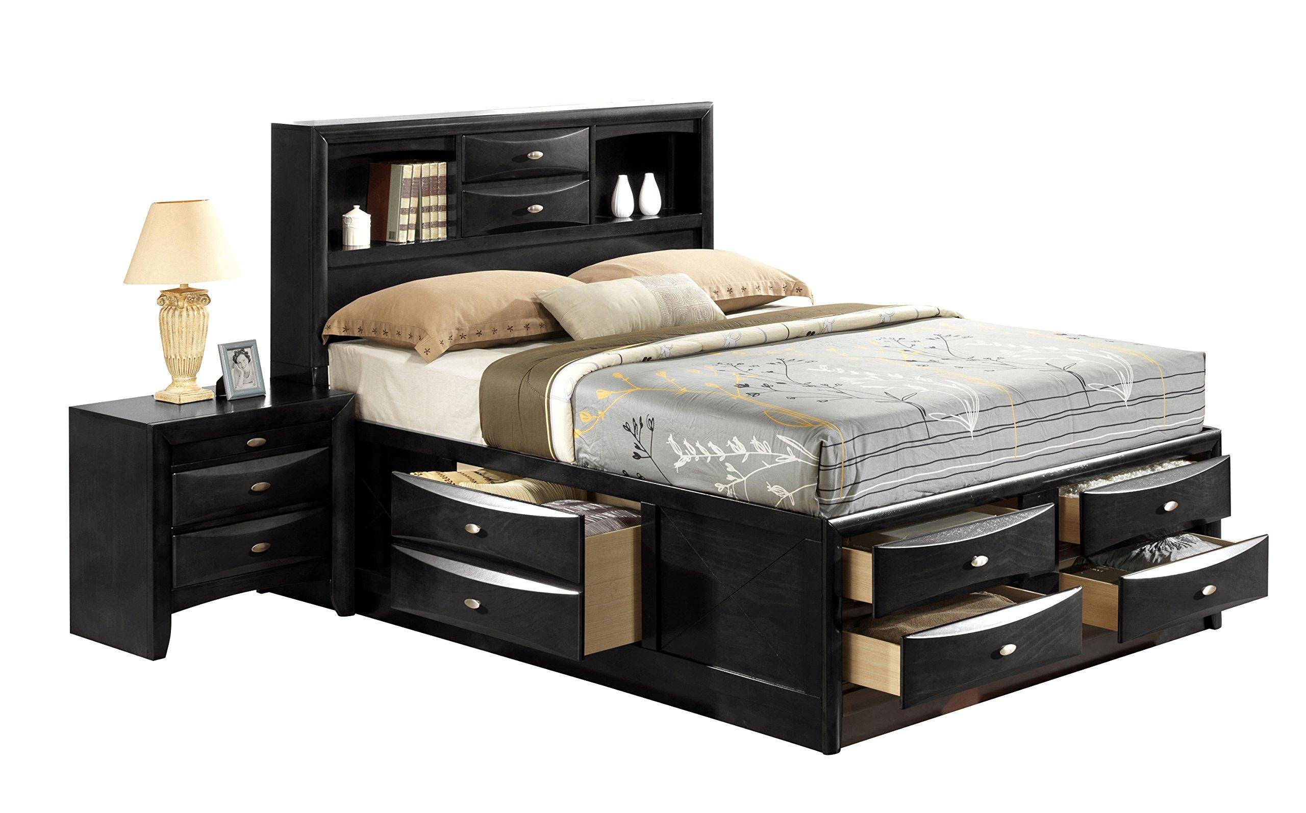 Global Furniture Linda Bed, King, Black by Global Furniture USA