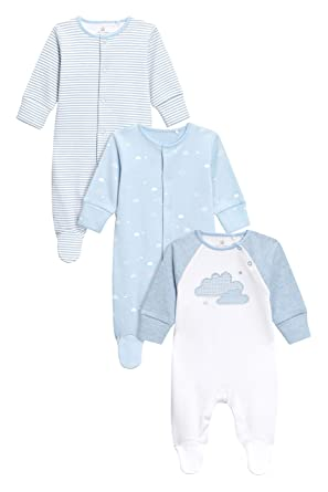 next Bebé-Niños Pack De Tres Pijamas Tipo Pelele con Estampado A Nubes (0 Meses - 2 Años) Azul 1.5-2 años: Amazon.es: Ropa y accesorios