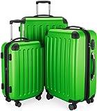 HAUPTSTADTKOFFER - Spree - Ensemble de 3 Valises Rigides Vert pomme mat, TSA, (S, M & L), 259 litres