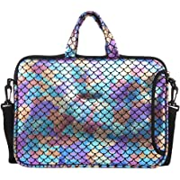 """11.6-Inch Laptop Shoulder Messenger Carrying Bag Case Sleeve For 11"""" 11.6"""" 12"""" 12.5 inch Macbook/Notebook/Ultrabook/Chromebook, Mermaid Scale (Colorful)"""