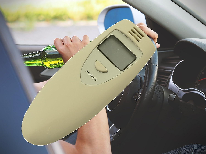 Alkoholtester Alkohol Tester Alcohol Atemalkohol-Tester Digital Auto KFZ fü r Fahrer mehrfachbenutzbar fü r Frankreich Reisen mit akustischem Alarm Spitzenspannung Elektrotechnik