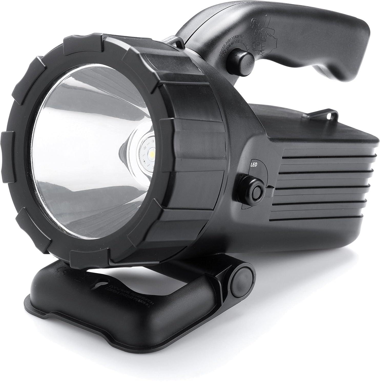 Searchlight 2 - wiederaufladbarer Hand- und Suchscheinwerfer mit 5 Watt LED - inklusive Autoladegerät - 400 Lumen - 200 Meter Leuchtweite
