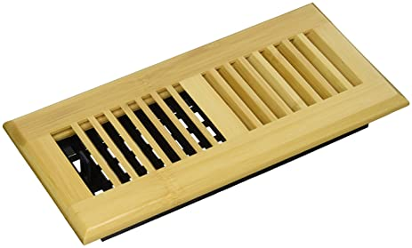 Decor Grates WLBA410-N Wood Louver Floor Register, Natural Bamboo, 4 ...