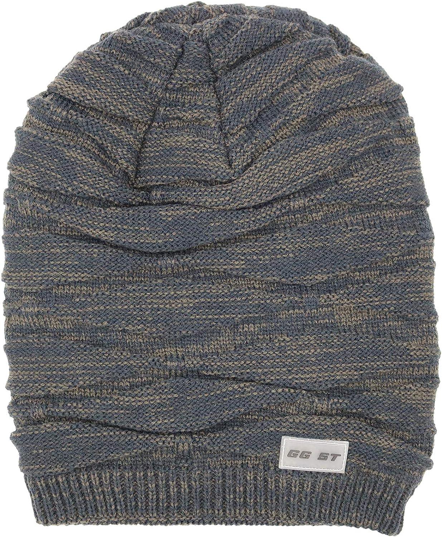 GG ST Winter Knitted Hat Men /& Women Beanie Fleece Lining Skully Cap Warm Ski Slouchy Hats