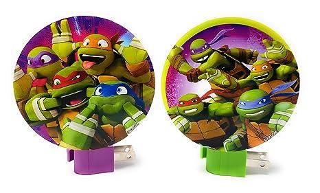 Nickelodeons Teenage Mutant Ninja Turtles TMNT Children Night Light - (Set of 2)