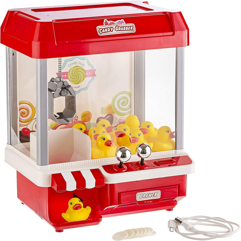Gadgy ® Candy Grabber con 5 Canciones | Máquina Dulces | Cable USB y 10 Patos Incluido | Regalo Originales