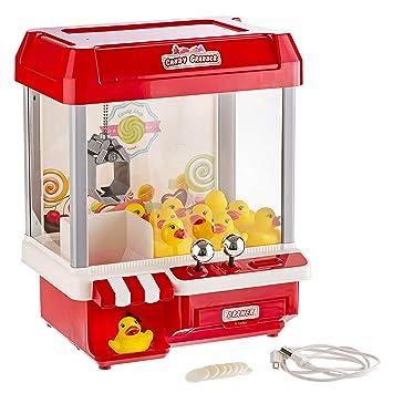Gadgy ® Candy Grabber con 5 Canciones | Máquina Dulces | Cable USB y 10 Patos Incluido | Regalo Originales: Amazon.es: Juguetes y juegos