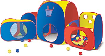 Playhut Mega Fun with Balls Tent  sc 1 st  Amazon.com : disney princess mega castle playhut tent - memphite.com