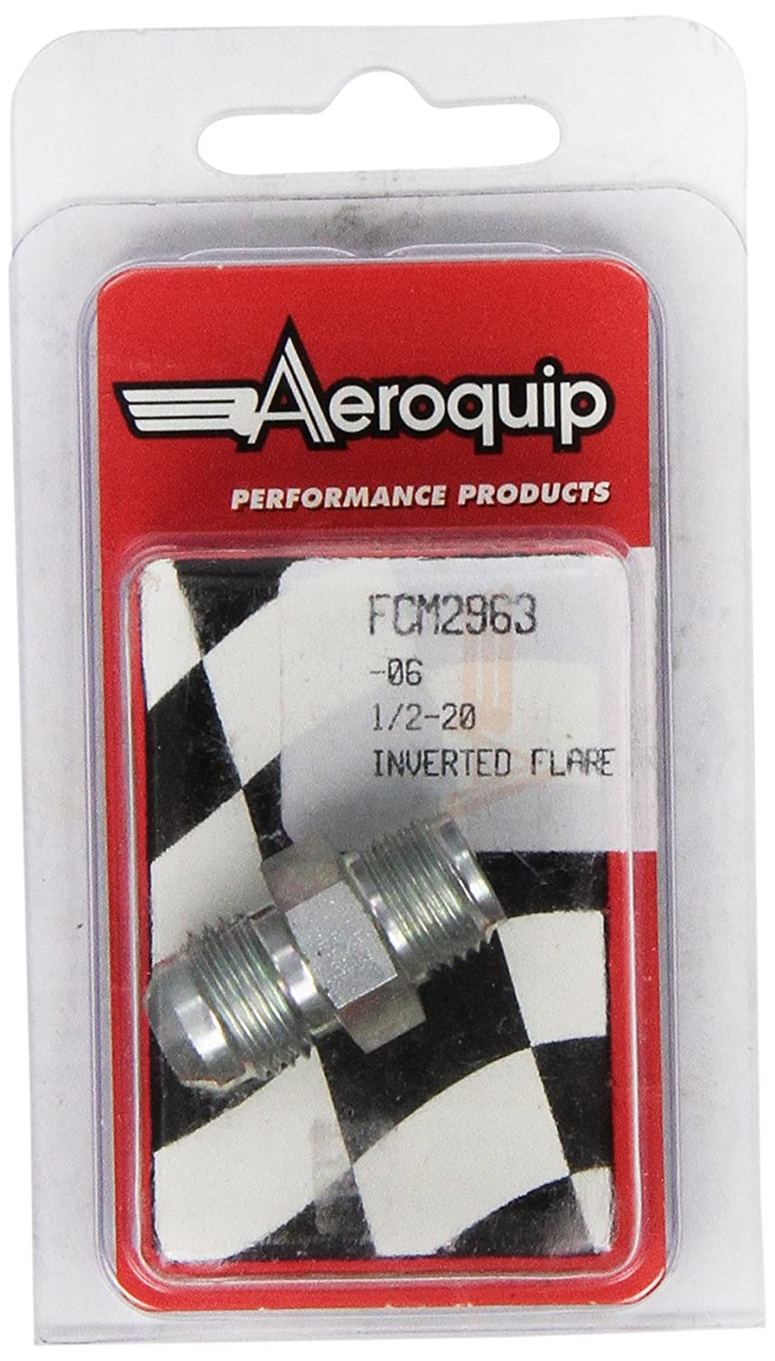Aeroquip FCM2963 Steel Inverted Flare High Pressure Adapter