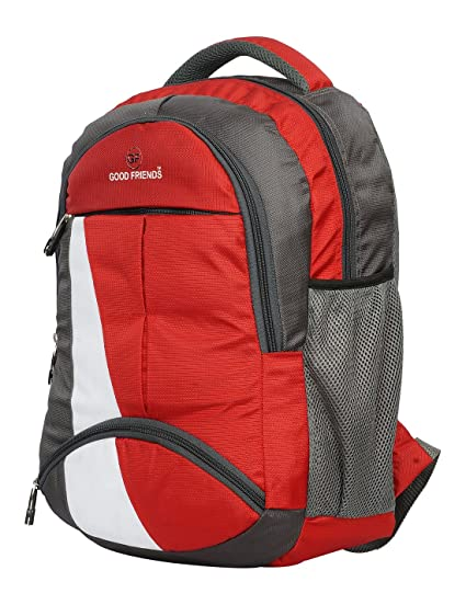 9e25c80f4d Good Friends 15 Ltr Red-Grey Casual Backpacks  stylish  Amazon.in ...