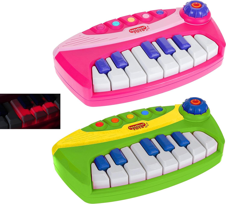 matrasa Baby Piano Lernen /& Spielen 25 cm Pink Kinderklavier Keyboard f/ür Kleinkinder