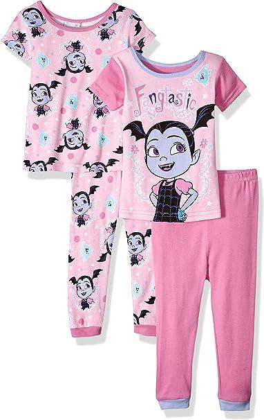 Disney Vampirina - Juego de Pijama de algodón (4 Piezas) - Rosa ...