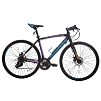 Bavel Commuter Aluminum 21-Speed Road Bicycle (Black/Blue or White/Blue)
