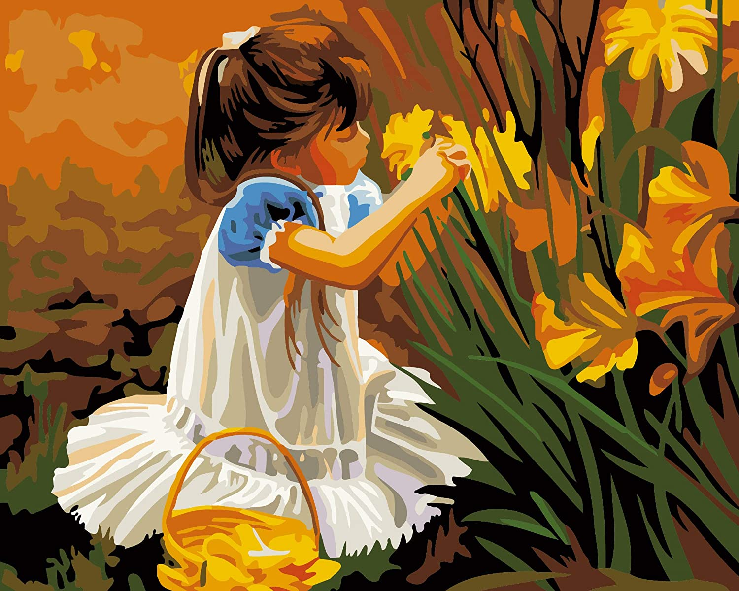 Painting by Number Kits DIY Painting Hand Painted Home Wall Decor Home Decorations Gifts for Kids Oil Painting Kit Lion Beginners Frameless 16 * 20 inch DIY Oil Painting Adults