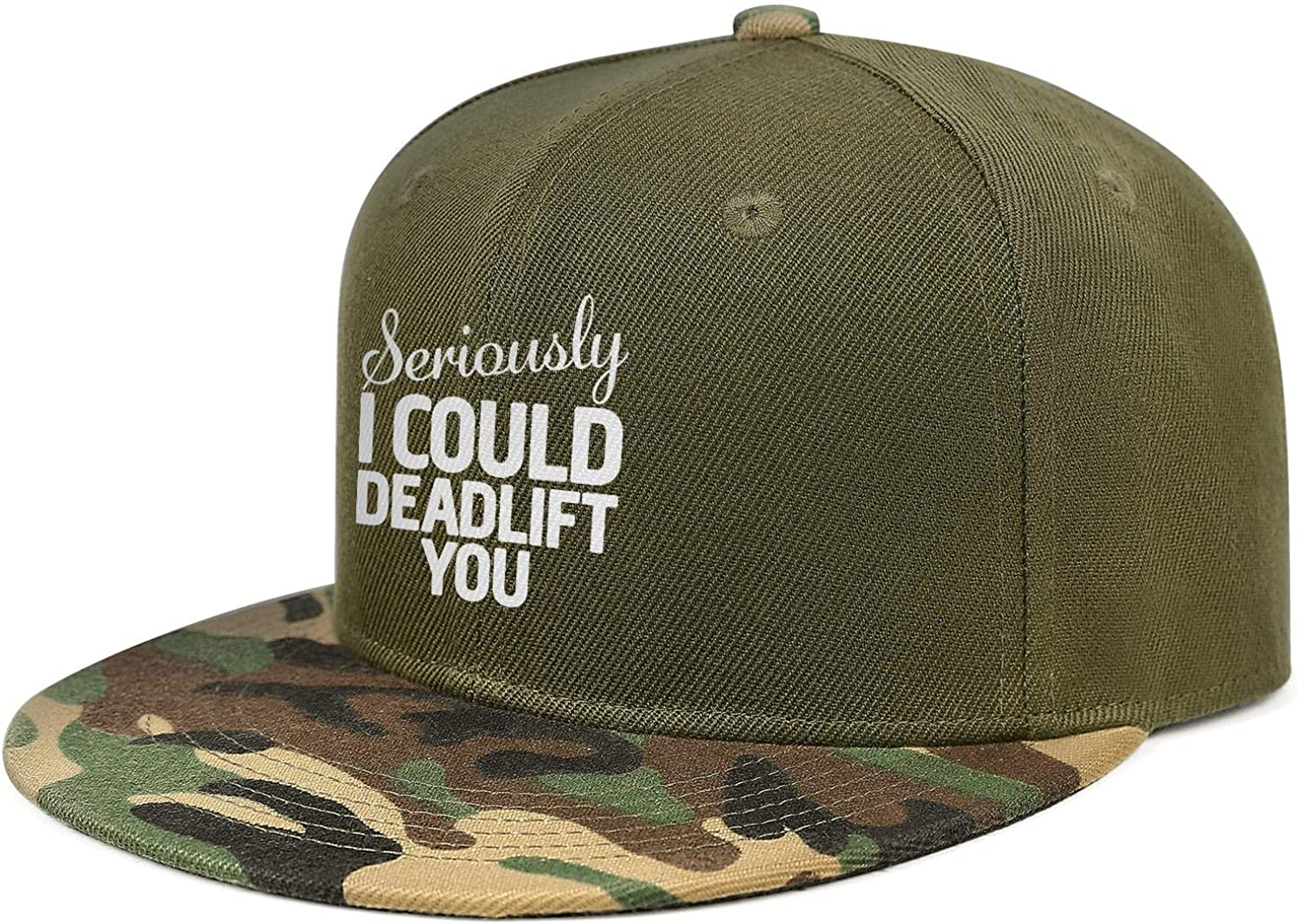 Newpz Seriously I Could Deadlift YouUnisexClassic Athletic Cap Camouflage Snapback Cap
