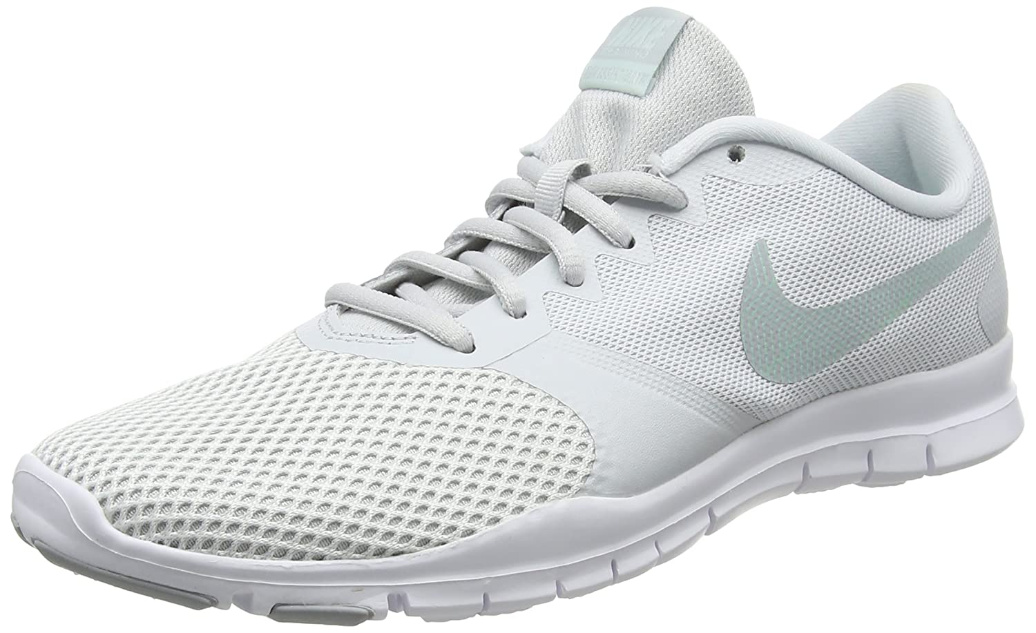 NIKE Women's Flex Essential Tr Training Shoe B07CD7WR9C 6.5|Pure Platinum/Wolf Grey-igloo