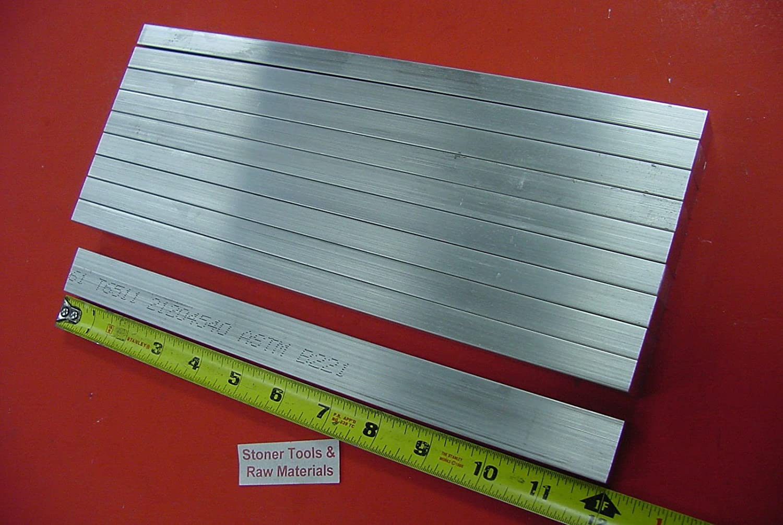 10 Pieces 1//2 X 3//4 ALUMINUM 6061 FLAT BAR 12 long .500 Solid New Mill Stock