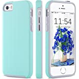 iPhone 5 Case,iPhone 5s Case, iPhone SE Case, BENTOBEN Dual Layer Anti-Scratch Rugged Durable Impact Resistant Plating Chrome Button Anti-Slip Skidproof Case for iPhone SE/5S/5, Mint Green