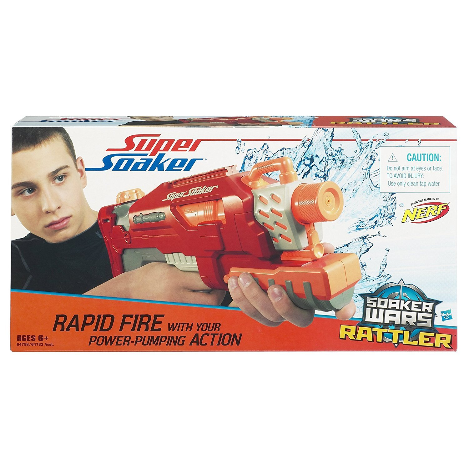 SUPERSOAKER Wars Rattler Water Blaster - Red by SUPERSOAKER