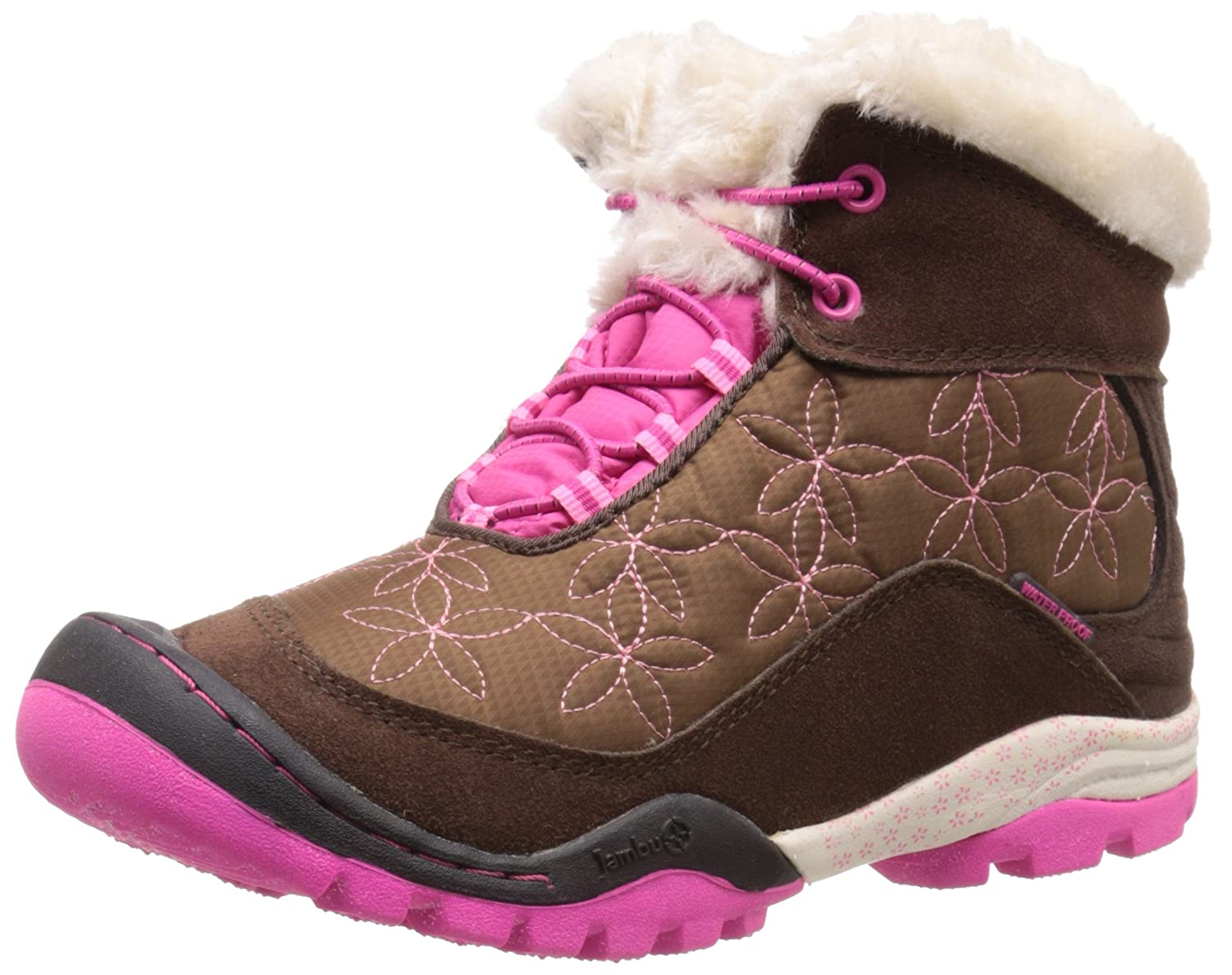JambuKD Magnolia Mid Waterproof Boot (Little Kid/Big Kid) Brown/Fuchsia 11 M US Little Kid Magnolia Mid Waterproof - K
