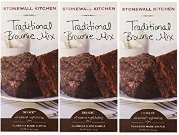 Stonewall Kitchen Traditional Brownie Mix 18oz Pack of 3 (3)