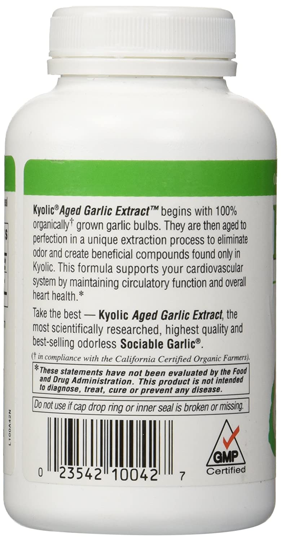 Kyolic Garlic Formula 100 Original Cardiovascular Formula 200 Capsules