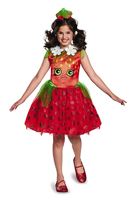 Shopkins Strawberry Classic Costume, One Color, Medium/7-8
