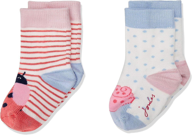 Pack of 2 Joules Baby Girls Neat Feet Socks