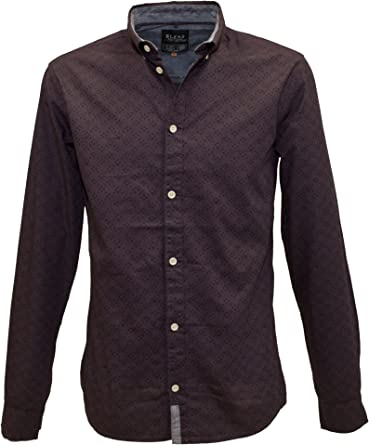 Blend of America - Camisa Casual - con Botones - Manga Larga - para Hombre Plum Extra-Large: Amazon.es: Ropa y accesorios
