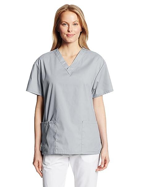 7e1b35a2dc271 Dickies Women's EDS Signature Scrubs 86706 Missy Fit V-Neck Top, Grey, XX