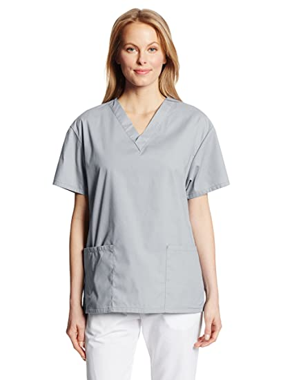 b9bfe39bacb Dickies Women's EDS Signature Scrubs 86706 Missy Fit V-Neck Top, Grey, XX