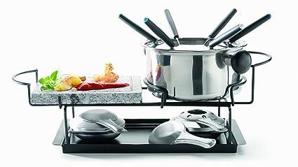 Domestic 922749 - Juego de fondue con piedra caliente (12 piezas)