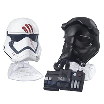Star Wars Black Series Titanium Series Finn and First Order Tie Fighter Pilot Helmets: Toys & Games
