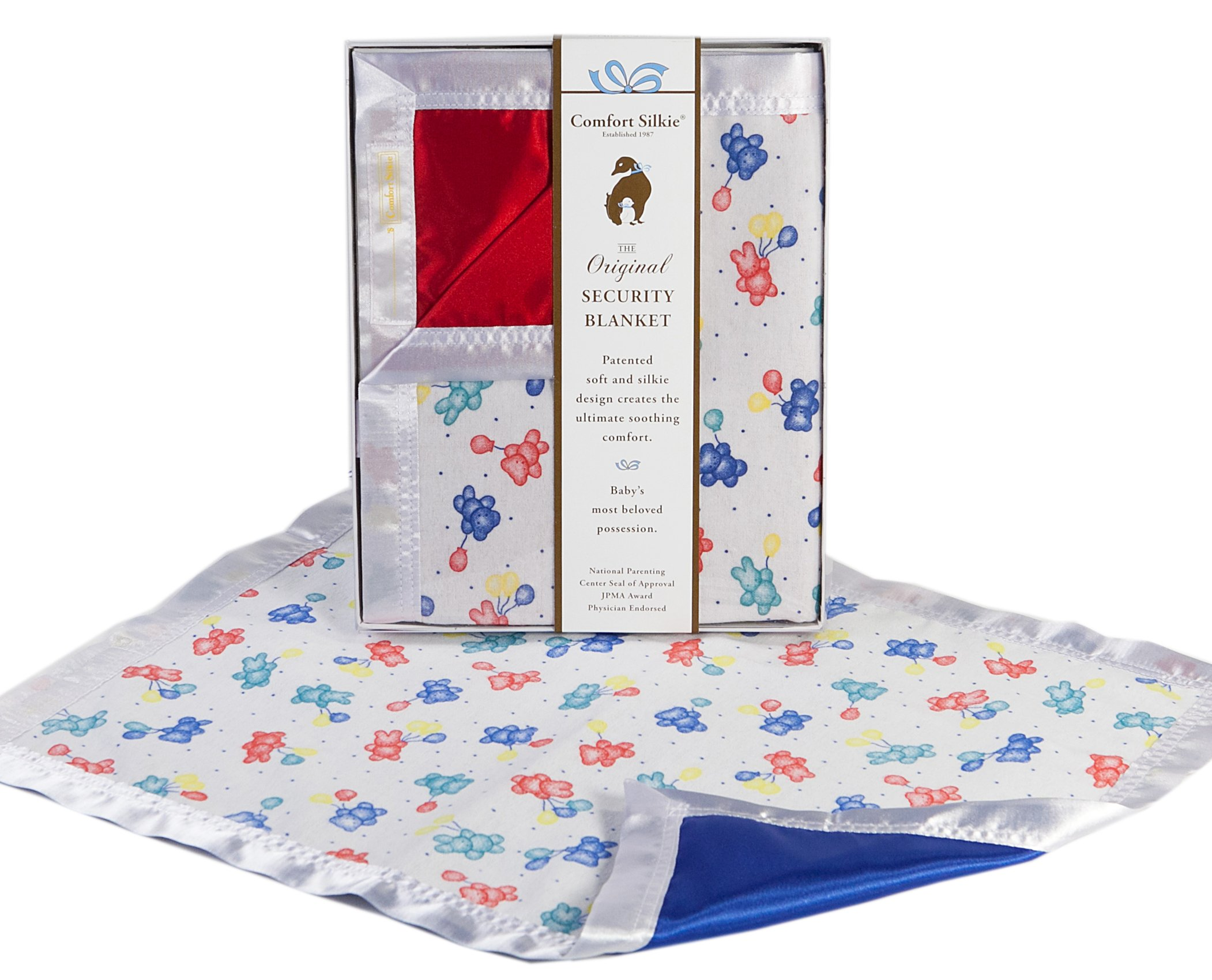 The Celebration Collection Security Blanket by Comfort Silkie ~ Primary (Blue)