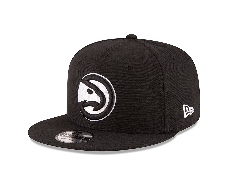 huge selection of cc52a 76f8b Amazon.com   New Era NBA Atlanta Hawks Men s 9Fifty Snapback Cap, One Size,  Black   Sports   Outdoors