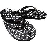 Michael Kors Women s Signature Flip Flop Black/White 9 B(M) US