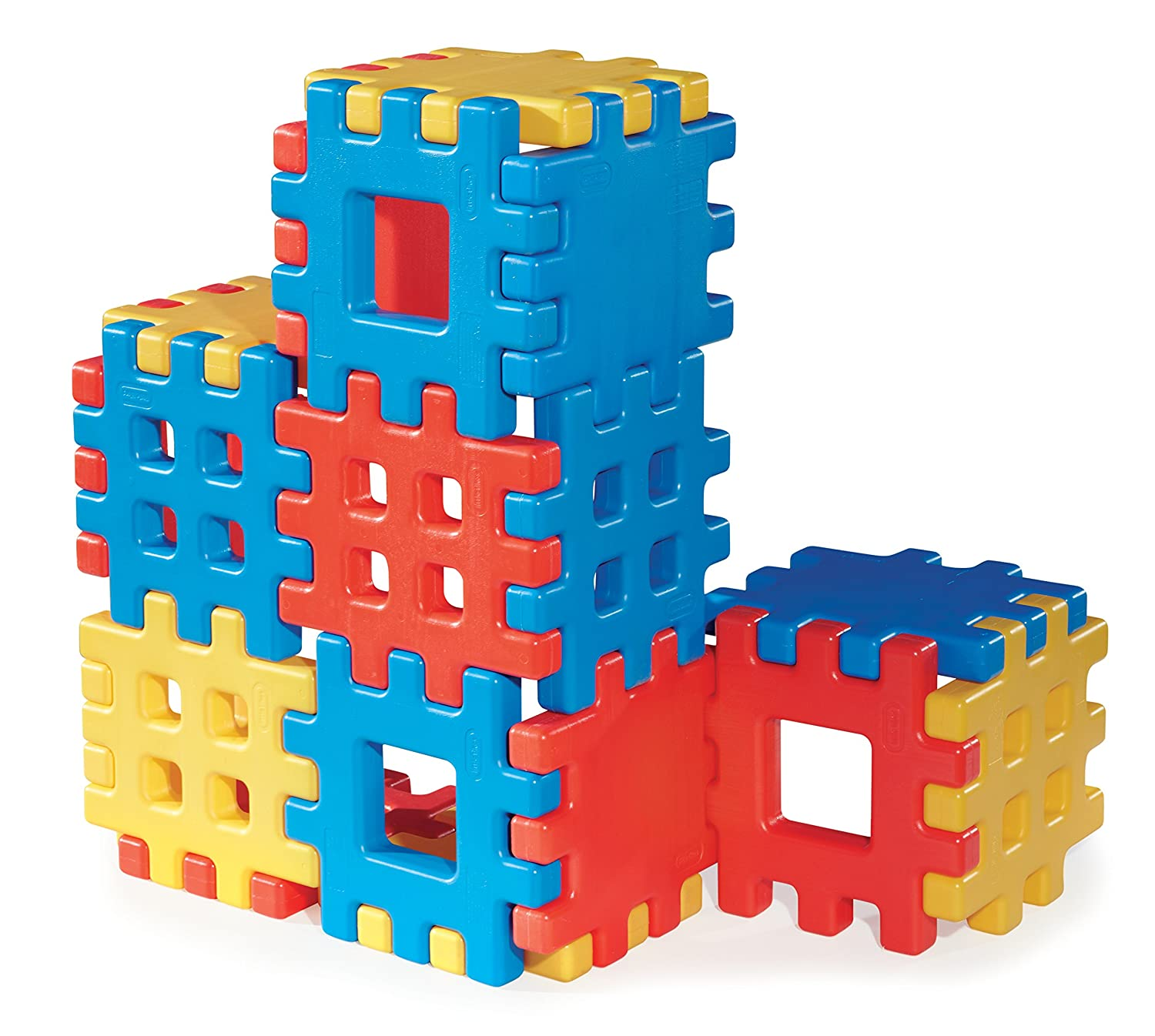 Amazon.com: Big Waffle® Blocks by Little Tikes 18 Large Waffle ...