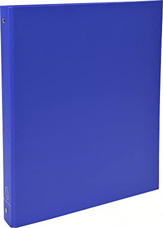 Exacompta 51372E - Carpeta con 4 anillas, A4, color azul: Amazon.es: Oficina y papelería