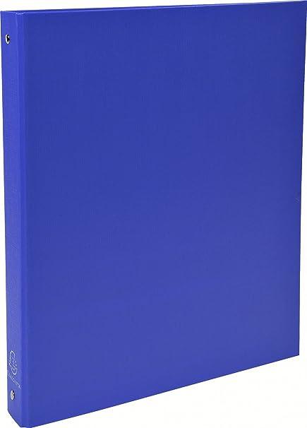 Farbe 4x Ringbuch 2-Ring-Mechanik aus PP Rücken A4 blau 30mm
