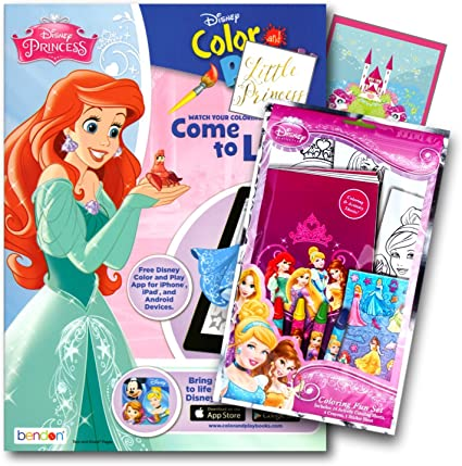 - Amazon.com: Disney Princess Coloring Book Pack With Stickers, Crayons And  Coloring Activity Book Bundled With 2 Separately Licensed GWW Specialty  Reward Stickers: Toys & Games