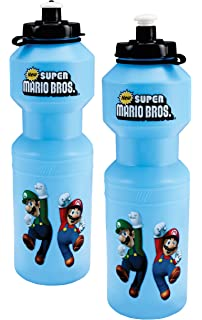 BirthdayExpress Super Mario Bros Party Favors - Plastic Sports Water Bottle with Top (4)