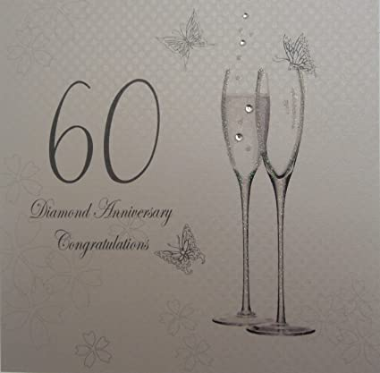 Anniversario Matrimonio Diamante.White Cotton Cards Album Fotografico Per Anniversario Nozze Di