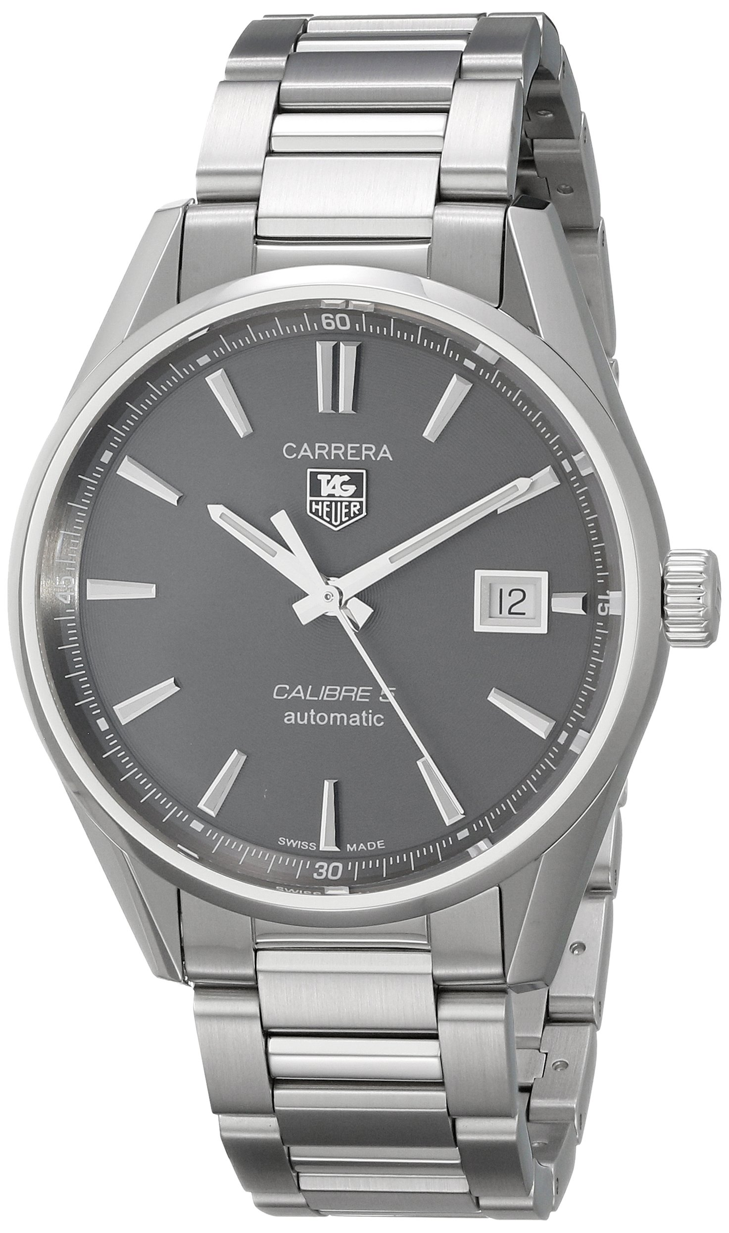 Tag Heuer Carrera Anthracite Dial Stainless Steel Mens Watch WAR211CBA0782