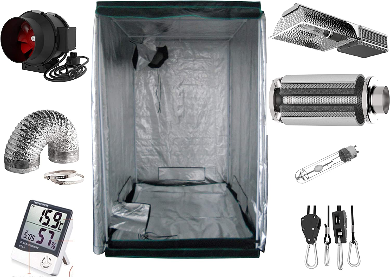 Desconocido Generic Growbox - Kit Completo de Cultivo (400 W, NDL Eco, 100 x 100 x 200 cm)