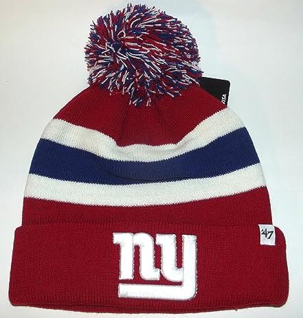 ea377697d0b ... where to buy 47 brand nfl new york ny giants knit cuffed pom breakaway  beanie skull